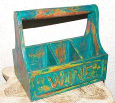 Zobrazit detail - Přepravka - stojan na víno, dřevěná dekorace