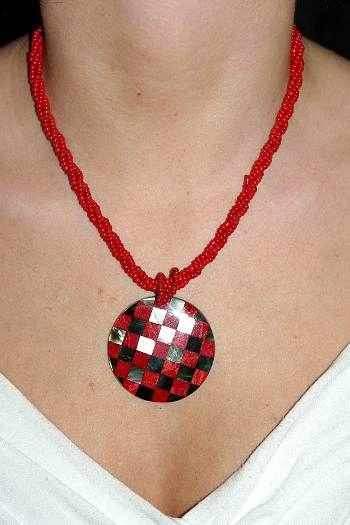 Náhrdelník perličkový s přívěškem IS0001 021