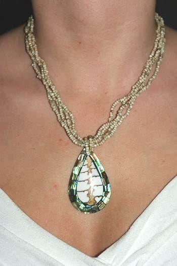 Náhrdelník perličkový s přívěškem IS0001 017