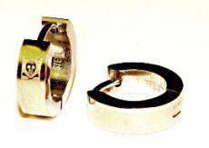Náušnice ocel - lebka