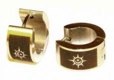 Náušnice ocel - slunce