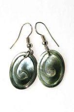 Náušnice perleťová s ocelovým ouškem