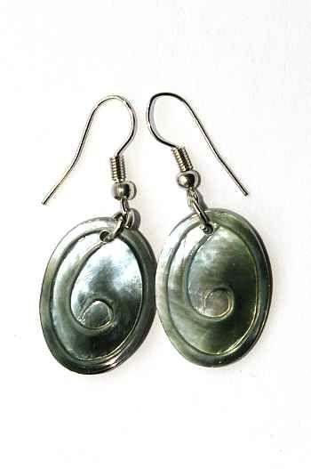 Náušnice perleťová s ocelovým ouškem IS0011 012