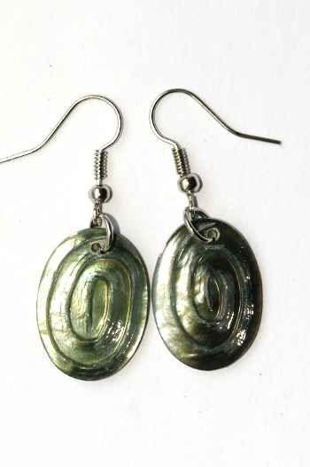 Náušnice perleťová s ocelovým ouškem IS0011 016