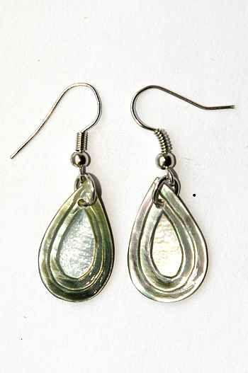 Náušnice perleťová s ocelovým ouškem IS0011 017