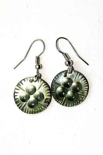 Náušnice perleťová s ocelovým ouškem IS0011 021
