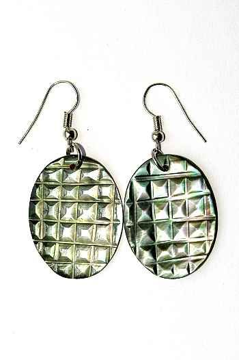 Náušnice perleťová s ocelovým ouškem IS0011 025