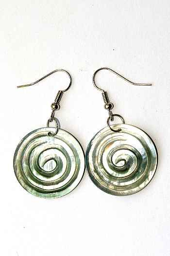 Náušnice perleťová s ocelovým ouškem IS0011 028
