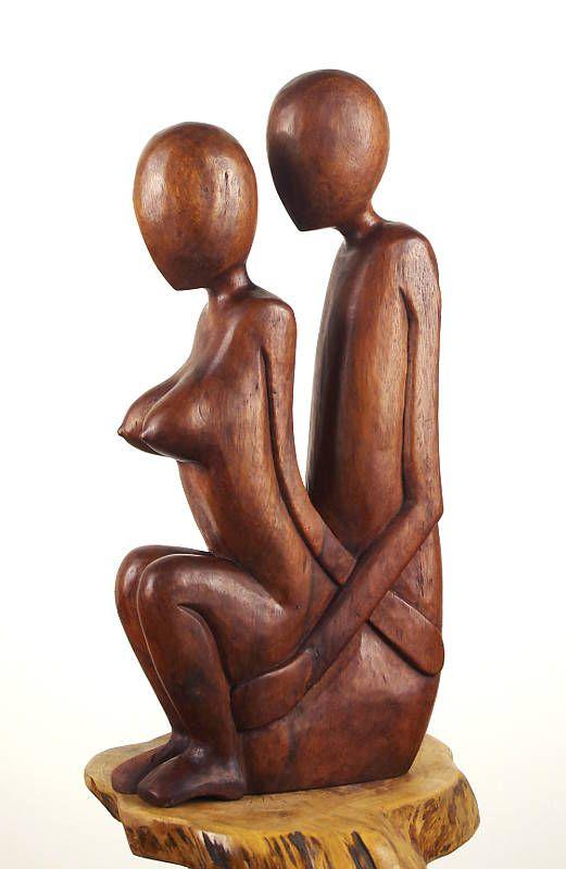 Soška milenci abstrakt 50 cm, suar Indonésie
