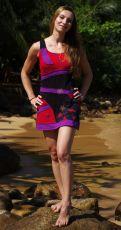 Dámské krátké letní šaty ORIANA, bavlna Nepál
