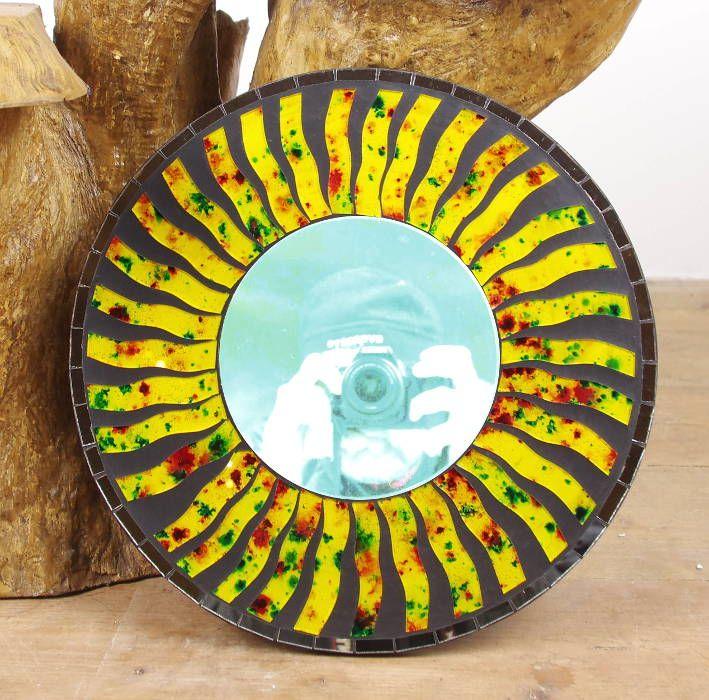 Dekorativní interiérové zrcadlo - skleněná mozaika kulaté 40 cm ID0005 01 002