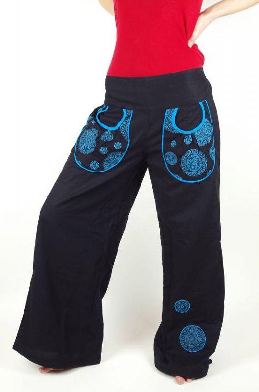 Kalhoty MANDALA MOUSE, ruční výroba Nepál KENAVI