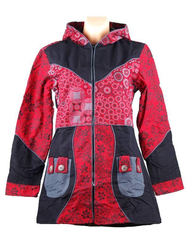 Kanvasový kabátek SERENITY s ručními potisky, Nepál