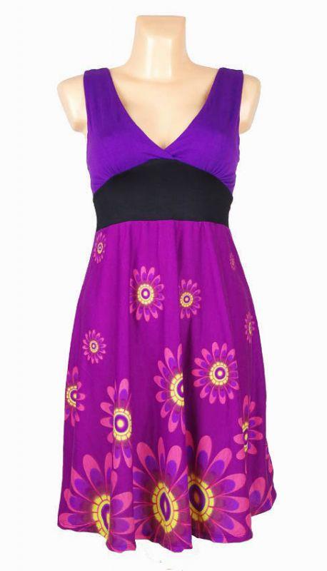 Letní šaty (šatová tunika) z pružného materiálu TT0024 0 038