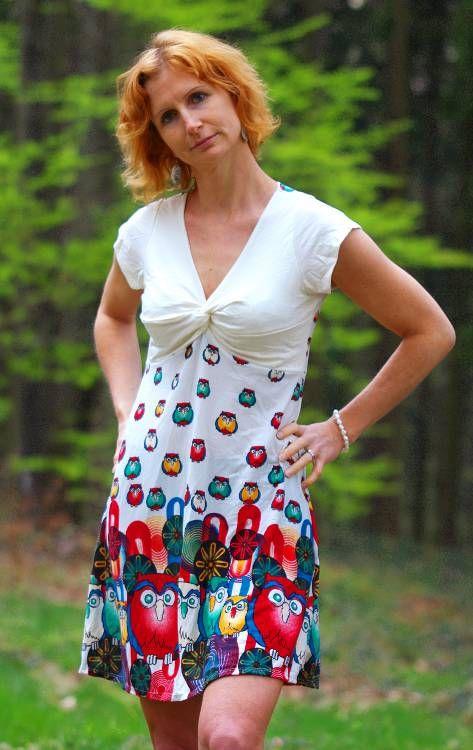 Letní šaty (šatová tunika) z pružného materiálu TT0024 0 45