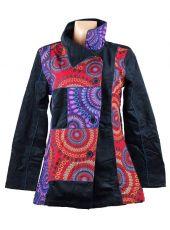 Manchesterový kabátek COLETTE NEO s kanvasovými potisky
