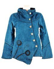 Manchesterový kabátek MUSHROOM, fleesová podšívka, Nepál