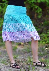 Dámská letní sukně LAURA VII midi bavlna