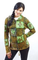 Dámská mikina sešívaná patchwork, ruční práce, Nepál