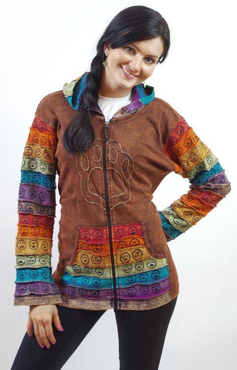 Dámská mikina sešívaná patchwork, ruční práce, Nepál NT0023 00 018