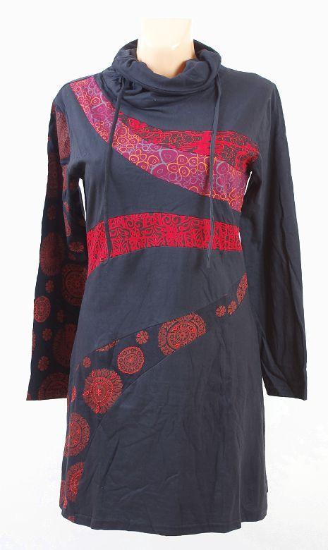 Dámská tunika s roláčkem LUISA, ruční práce Nepál NT0048 40 004 KENAVI