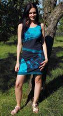 Dámské krátké letní šaty ORIANA prodloužené, bavlna Nepál