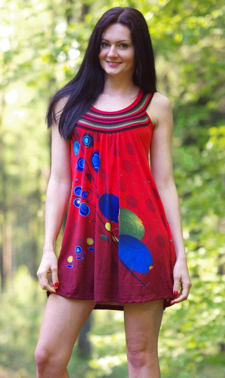 Dámské letní šaty (šatová tunika) z pružného materiálu TT0024 0 050