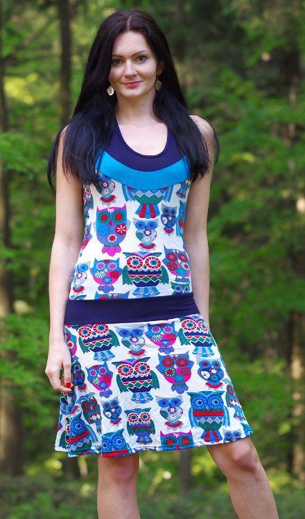 Dámské letní šaty (šatová tunika) z pružného materiálu TT0024 0 066