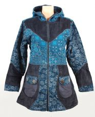 Dámský manchesterový kabátek SERENITY NEO s ručními kanvasovými potisky, Nepál