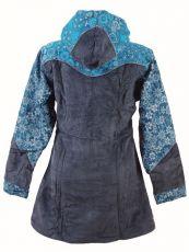 Dámský manchesterový kabátek SERENITY NEO s ručními kanvasovými potisky, Nepál NT0014 12B 001 KENAVI