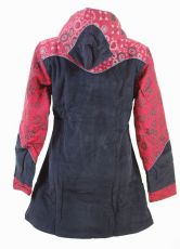 Dámský manchesterový kabátek SERENITY NEO s ručními kanvasovými potisky, Nepál NT0014 12B 002 KENAVI