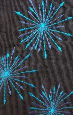 Dámský manchesterový kabátek SNOW BALL s odepínací kapucí a ručními kanvasovými potisky a výšivkami, Nepál NT0014 12B 002 KENAVI