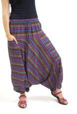 Kalhoty turecké GOLD, bavlna Nepál