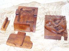 Magická krabička - malá šperkovnice BUDDHA - ruční výroba Indonésie ID1601309