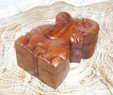 Magická krabička - malá šperkovnice SLON - ruční výroba Indonésie ID1601307