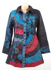 Manchesterový kabátek FANTASY NEO s kanvasovým patchworkem, Nepál