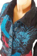 Manchesterový kabátek FANTASY NEO s kanvasovým patchworkem, Nepál NT0014 00B 001 KENAVI