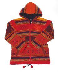 Pánská vlněná svetrobunda s fleesem, handmade Nepál