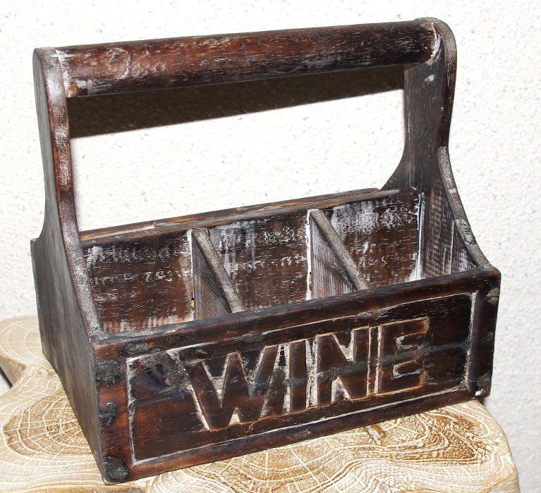 Přepravka - stojan na víno, dřevěná dekorace ID1607201
