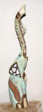 Soška SLON albesia bleděmodrý  80 cm