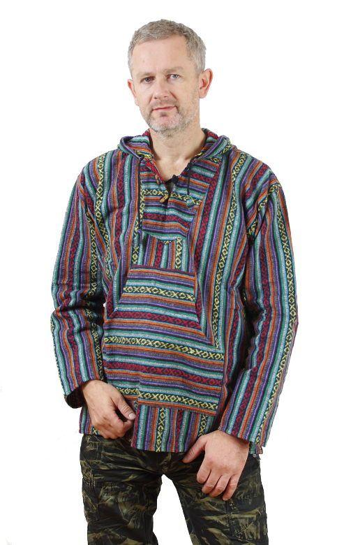 Teplá mikina KENAVI MEXICANO, bavlna s fleesem, Nepál NT0002 00 005