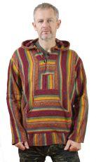 Teplá mikina KENAVI MEXICANO, bavlna s fleesem, Nepál