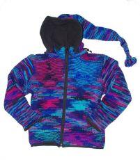 Vlněná bunda s fleesovou podšívkou a odepínatelnou kapucí