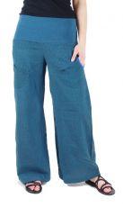 Dámské kalhoty SUMMERY SHYAMA, ruční potisk, bavlna shyama z Nepálu