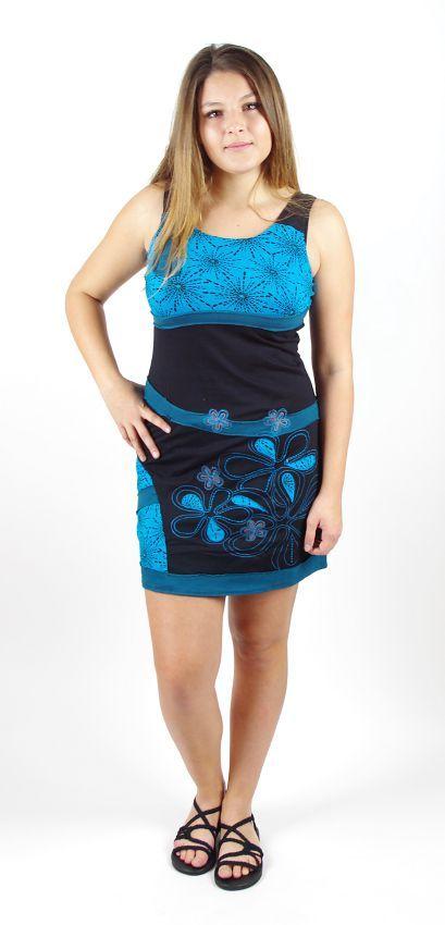 Dámské krátké letní šaty ORIANA prodloužené, bavlna Nepál NT0048 03B 007 KENAVI