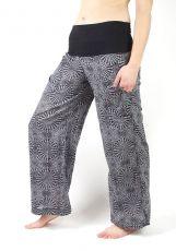 Dámské letní kalhoty SUMMER SLIM, ruční potisk, pevná bavlna Nepál NT0053 07 020