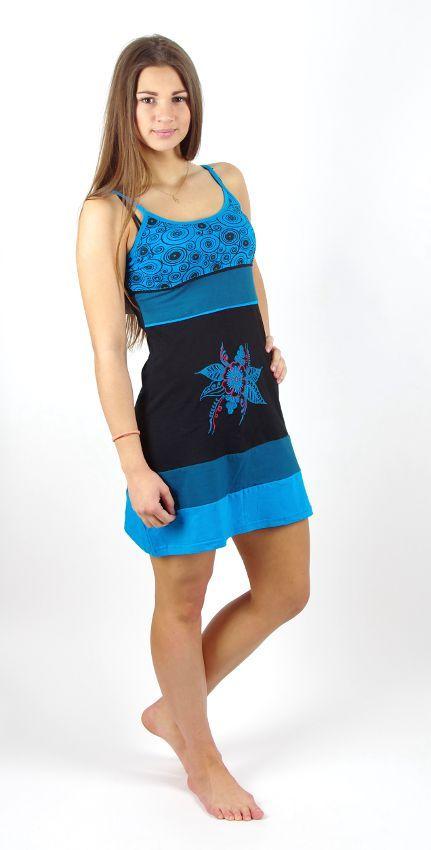 Dámské letní šaty MIMI, 100% bavlna, ruční práce Nepál NT0048 50 001 KENAVI