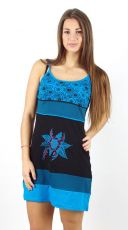Dámské letní šaty MIMI, 100% bavlna, ruční práce Nepál NT0048-50-001 KENAVI