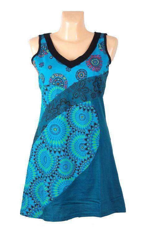 Dámskě letní šaty SEMIRAMI, ruční výroba Nepál NT0048 49 002 KENAVI