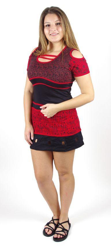 Dámské šaty ADELLE červené, bavlna Nepál NT0048 48 002 KENAVI